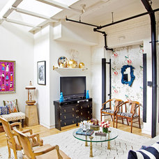 eclectic living room by Design Manifest