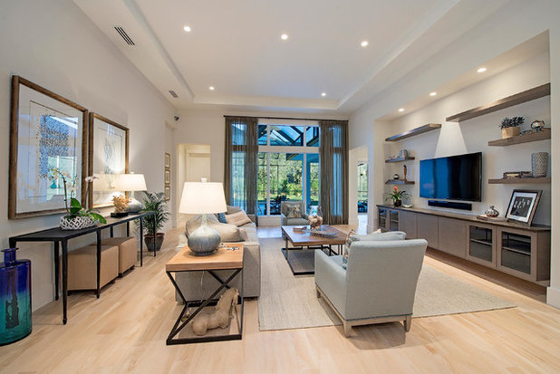 Transitional Living Room by 41 West