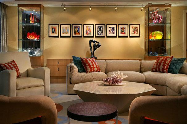 Contemporary Living Room by K2 Design