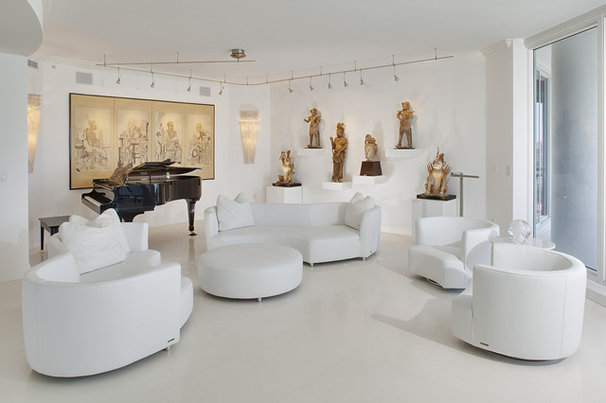Contemporary Living Room by Joie Wilson
