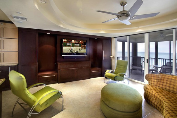 Contemporary Living Room by Zoom-Room Murphy Beds