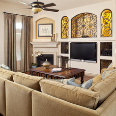 Traditional Living Room by P. Scinta Designs, LLC