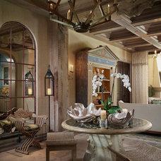 Mediterranean Living Room by Bruce Palmer Interior Design