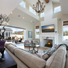 Beach Style Living Room by Brandon Architects, Inc.