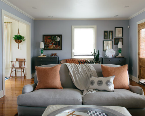 peach and gray living room design ideas remodels photos houzz