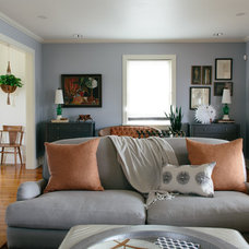 Eclectic Living Room by Logan Killen Interiors