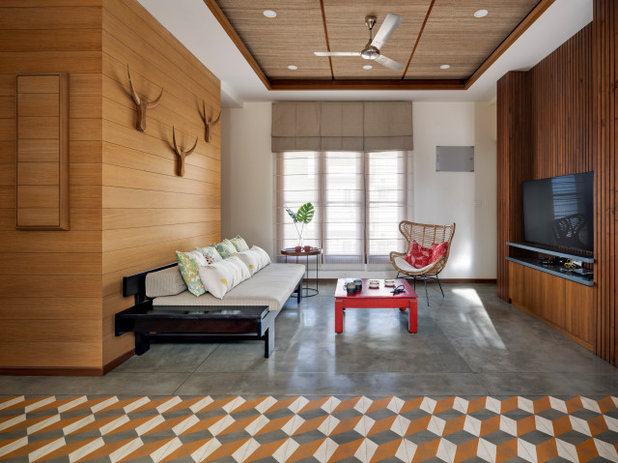 Contemporary Family Room by Yellow Door Architects