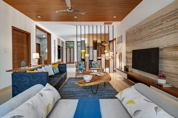 Asian Living Room by Yellow Door Architects