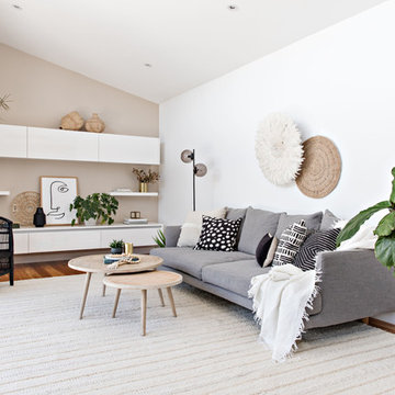 Natural & Neutral Family Room
