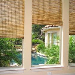 """Natural Roman Shades - Bamboo Roman Shades, pattern """"Tepic"""""""
