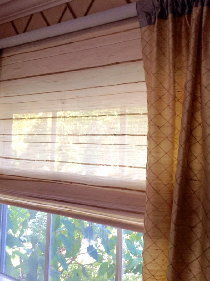 Natural Woven Shades with Side Panels