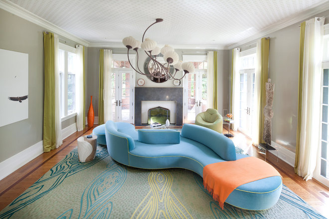 Eclectic Living Room by Finelines Interiors