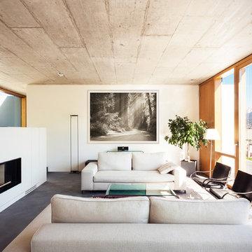 Nature Landscape - Installation in Modern Tones Living Room