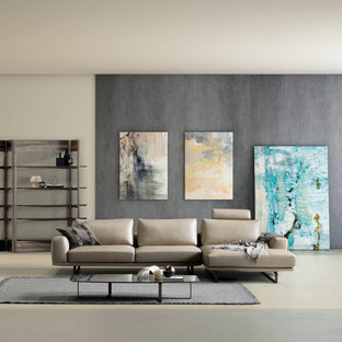 Inspiration for a contemporary living room remodel in London