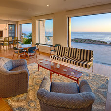 Beach Style Living Room by Hill Construction Company