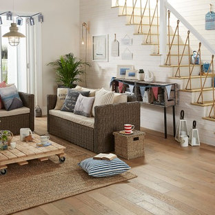This is an example of a nautical living room in Hampshire.