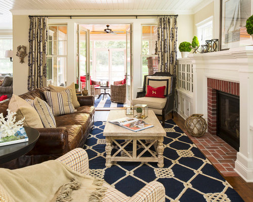 Coastal Decorating Ideas For Living Rooms: Nautical Living Room
