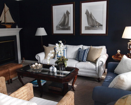 Nautical living room ideas pictures remodel and decor Nautical furniture ideas