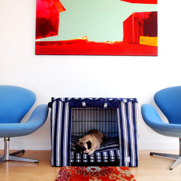 Nautical stripe Dog Beds and Crate Covers