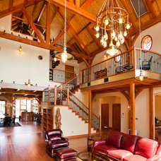 Rustic Living Room by Texas Timber Frames