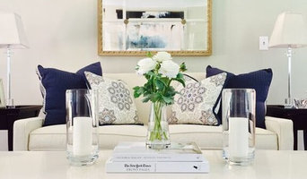 Navy and White Living Space
