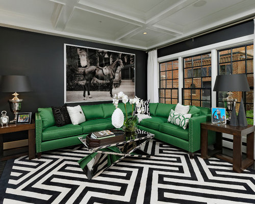 Green Black White Home Design Ideas Pictures Remodel And
