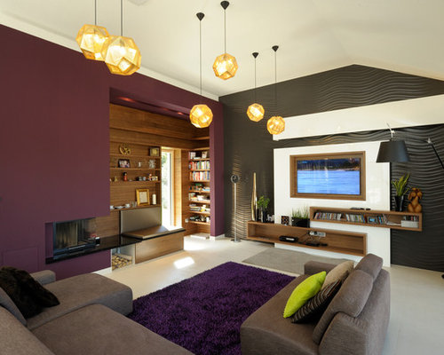 Plum Walls Home Design Ideas Pictures Remodel And Decor