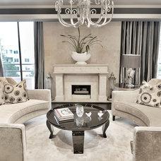 Transitional Living Room by Steven Cordrey Interior Design