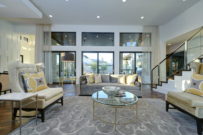 Transitional Living Room by Hobbs' Ink