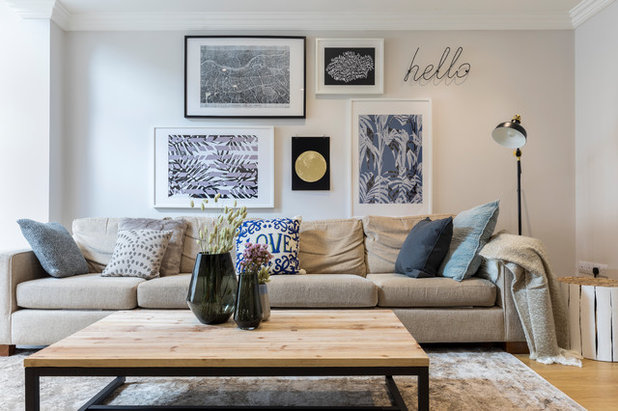 Transitional Living Room by At Home with Hostmaker