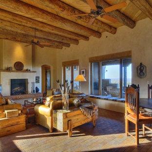 Southwest living room photo in Albuquerque