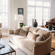 Transitional Living Room by Kara O'Connor Interiors