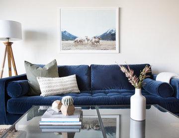 Neutral Modern Boho Living Room