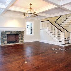 Farmhouse Living Room by Scott Design, Inc.