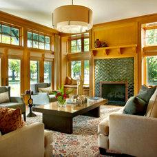 Traditional Living Room by Stuart Cohen & Julie Hacker Architects LLC