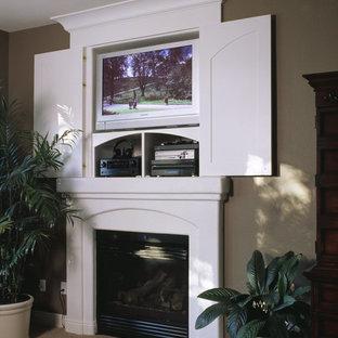 New Bedroom Fireplace Cabinet Open