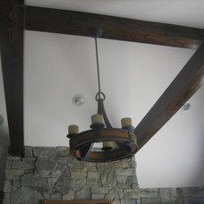 Traditional Living Room by Ruebl Builders LLC