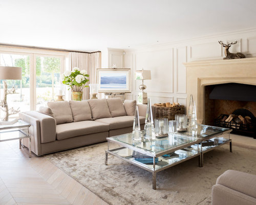 Inspiration For A Large Country Formal Living Room In West Midlands With  White Walls, Light