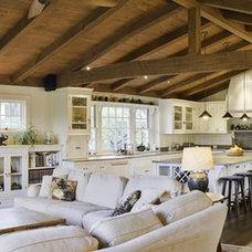 Farmhouse Living Room by Landmark Construction