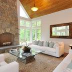 Rustic Contemporary Retreat Contemporary Living Room