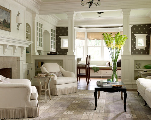 57 348 half wall home design design ideas remodel for Columns in living room ideas