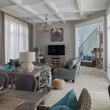 Beach Style Living Room by Grand Bay Construction