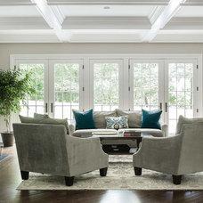 Traditional Living Room by Dubinett Architects, llc.