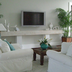 tropical living room by Molly Frey Design