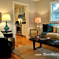 Modern Living Room by Rooms With Style Home Staging and Redesign