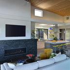 Rustic Contemporary Contemporary Living Room St
