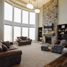 Craftsman Family Room by Owen Homes LLC