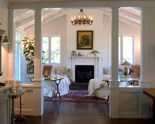 Half Wall With Column Houzz