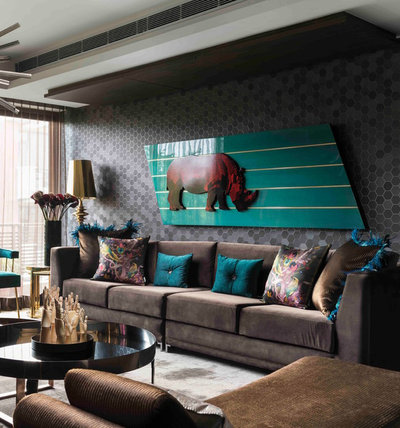 Eclectic Living Room by SANJYT SYNGH
