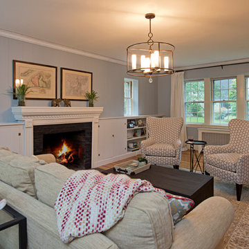 New England Coastal Living Room